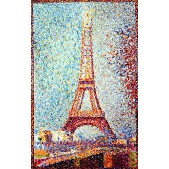 quadros de paisagens - Quadro -La Torre Eiffel- - Seurat, Georges