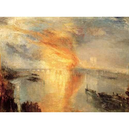 pinturas de paisagens - Quadro -The burning of the house of L-
