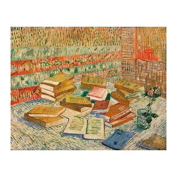 cuadros de bodegones - Cuadro -Los libros amarillos, 1887-