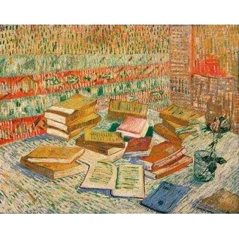 naturezas mortas - Quadro -Los libros amarillos, 1887- - Van Gogh, Vincent
