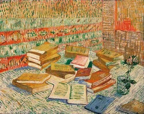 Still life paintings - Picture -Los libros amarillos, 1887- - Van Gogh, Vincent