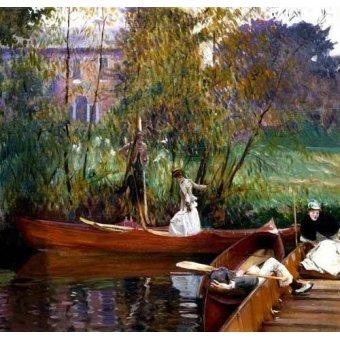 - Quadro -Fiesta en el rio- - Sargent, John Singer