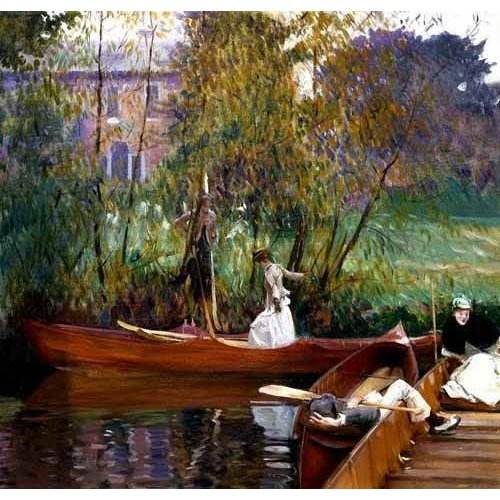 pinturas de paisagens - Quadro -Fiesta en el rio-
