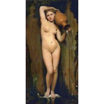 quadros nu artistico - Quadro -La Fuente- - Ingres, Jean-Auguste-Dominique