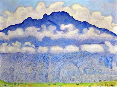 quadros-de-paisagens - Quadro -Landscape in the Berne Oberland- - Hodler, Ferdinand