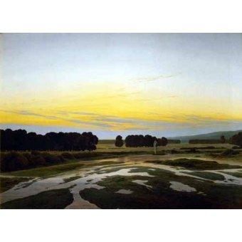 - Quadro -The Big Preserve Near Dresden- - Friedrich, Caspar David