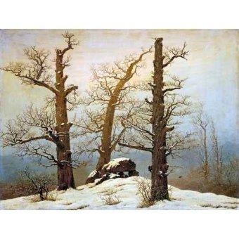 - Quadro -Megalithic Caim In The Snow- - Friedrich, Caspar David