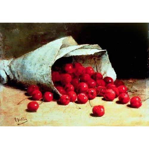 Picture -Bolsa de papel con cerezas-