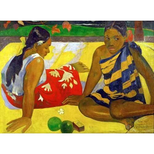 Quadro -Two women from Tahiti (Oil on canvas) (1892)-