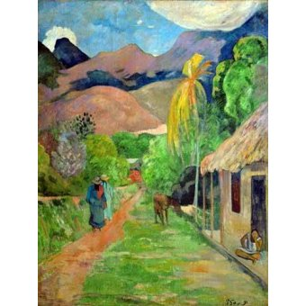 - Quadro -Path In Papeete, Rue du Tahiti- - Gauguin, Paul