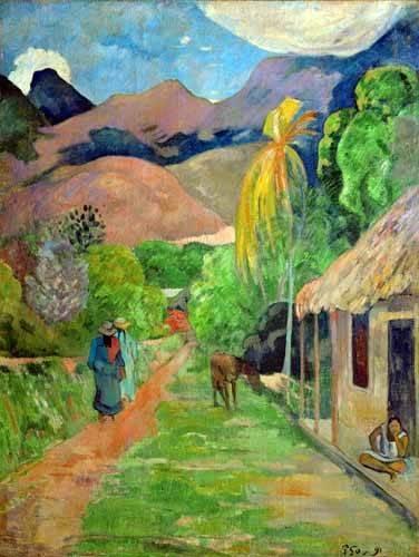 quadros-de-paisagens - Quadro -Path In Papeete, Rue du Tahiti- - Gauguin, Paul