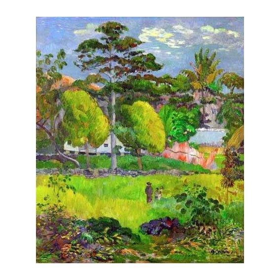 pinturas de paisagens - Quadro -Landscape (Paysage) 1891-
