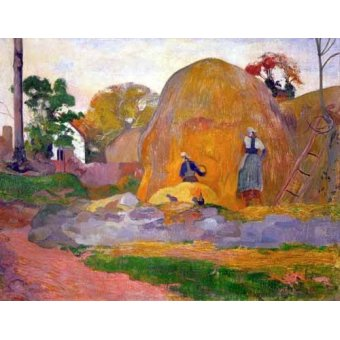 - Quadro -The yellow haystack, 1889- - Gauguin, Paul