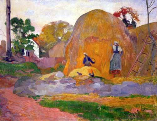 quadros-de-paisagens - Quadro -The yellow haystack, 1889- - Gauguin, Paul