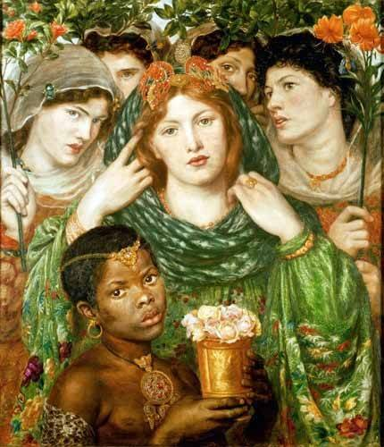 pinturas-de-retratos - Quadro -The Beloved- - Rossetti, Dante Gabriel
