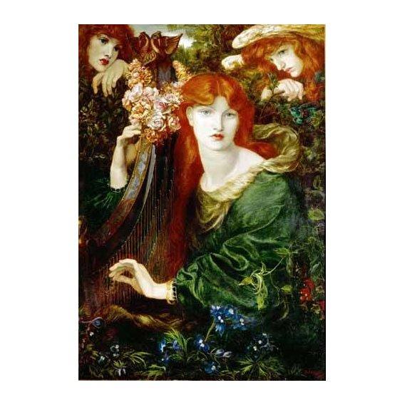 pinturas do retrato - Quadro -Ghirlandata-