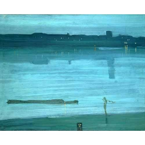 Quadro -Nocturne, Blue and Silver_Chelsea, 1871-