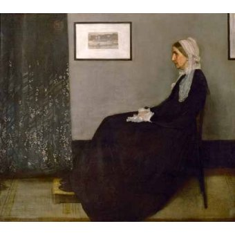 - Quadro -The painter's mother Anna Mathilda McNeill (1804-1881).- - Whistler, James Abbot McNeill