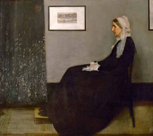 pinturas-de-retratos - Quadro -The painter's mother Anna Mathilda McNeill (1804-1881).- - Whistler, James Abbot McNeill