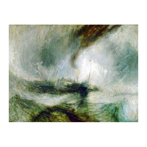 pinturas de paisagens marinhas - Quadro -Snow Storm-