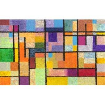 Quadros abstratos - Quadro -Abstrato M_K_1- - Molsan, E.