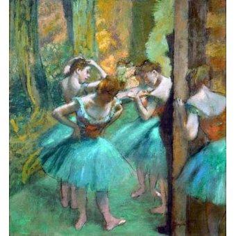 - Quadro -Pink and Green Dancers, 1890- - Degas, Edgar
