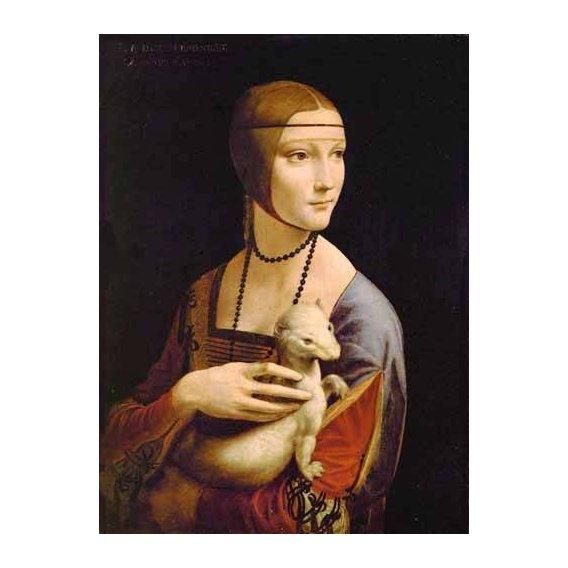 pinturas do retrato - Quadro -Dama con un armiño-