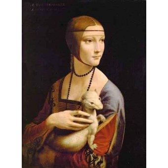 - Quadro -Dama con un armiño- - Vinci, Leonardo da
