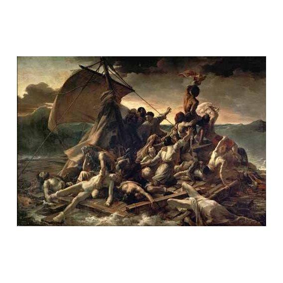 pinturas do retrato - Quadro -La Balsa De La Medusa-