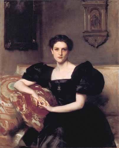pinturas-de-retratos - Quadro -Retrato de Elizabeth Winthrop Chanler- - Sargent, John Singer