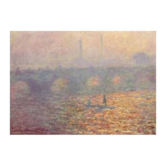 pinturas de paisagens - Quadro -Waterloo Bridge, 1900-