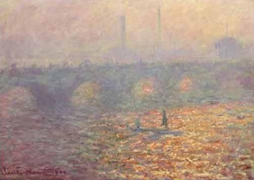 quadros-de-paisagens - Quadro -Waterloo Bridge, 1900- - Monet, Claude