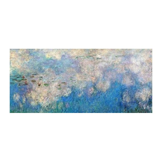 pinturas de paisagens - Quadro -The Waterlilies - The Clouds (central section).-