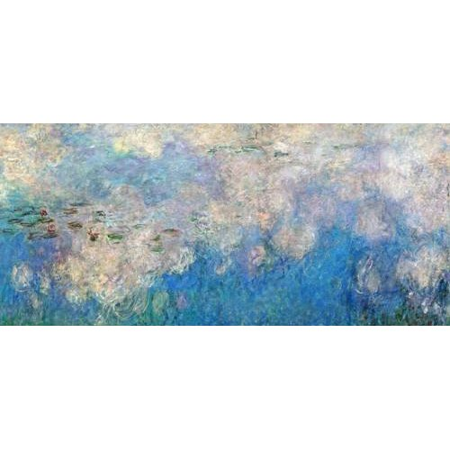Quadro -The Waterlilies - The Clouds (central section).-