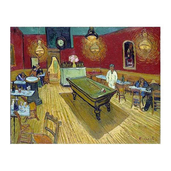pinturas do retrato - Quadro -The Night Cafe in Arles, 1888-