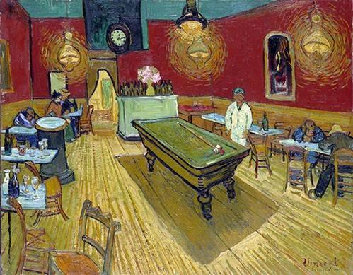 pinturas-de-retratos - Quadro -The Night Cafe in Arles, 1888- - Van Gogh, Vincent