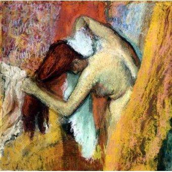 cuadros de desnudos - Cuadro -Mujer aseándose, 1894- - Degas, Edgar