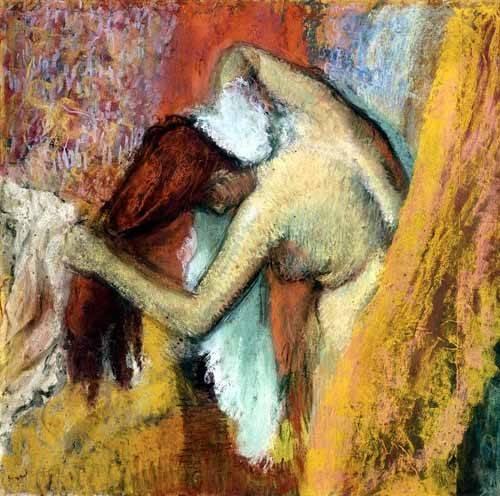 decorative paintings - Picture -Mujer aseándose, 1894- - Degas, Edgar