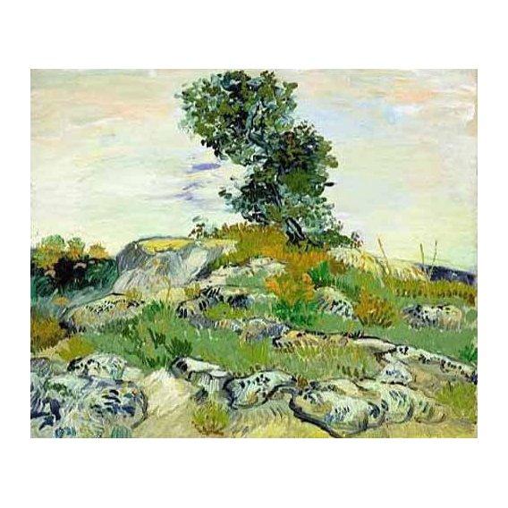pinturas de paisagens - Quadro -The Rocks, 1888 (oil on canvas).-