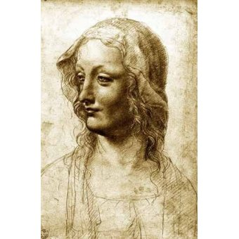 - Quadro -Cara de una mujer- - Vinci, Leonardo da