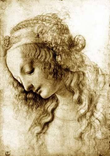 quadros-religiosos - Quadro -Maria Magdalena- - Vinci, Leonardo da