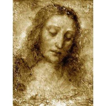 quadros religiosos - Quadro -La Cara De Cristo- - Vinci, Leonardo da