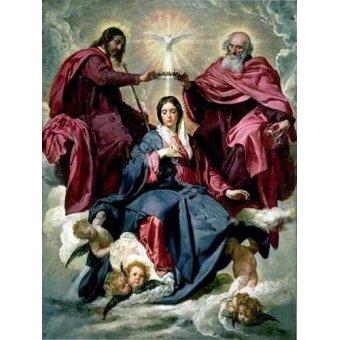 quadros religiosos - Quadro -Coronacion de la Virgen- - Velazquez, Diego de Silva