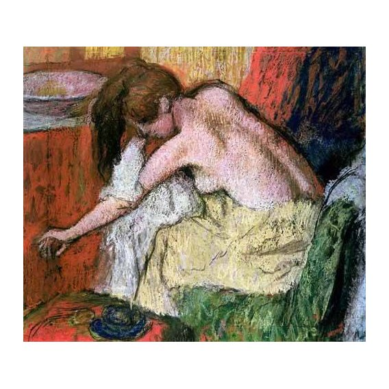decorative paintings - Picture -Mujer secándose, 1888-