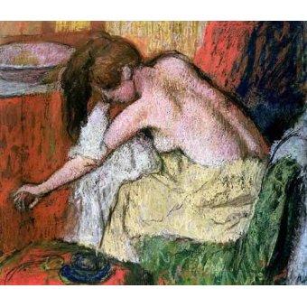 quadros nu artistico - Quadro -Mujer secándose, 1888- - Degas, Edgar