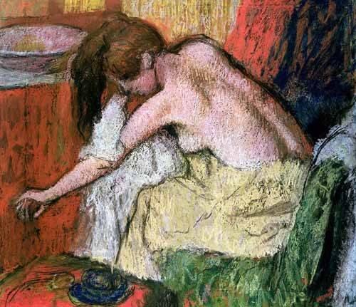 decorative paintings - Picture -Mujer secándose, 1888- - Degas, Edgar
