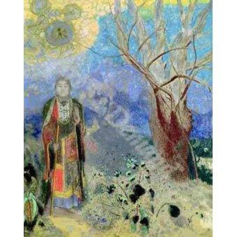 quadros étnicos e orientais - Quadro -The Buddha (Buda)- - Redon, Odilon