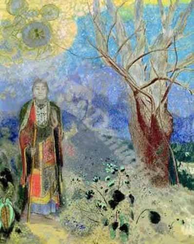 quadros-etnicos-e-orientais - Quadro -The Buddha (Buda)- - Redon, Odilon