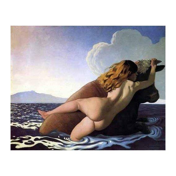 pinturas do retrato - Quadro -The Rape of Europa-
