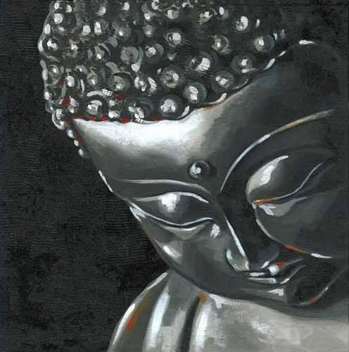 quadros-etnicos-e-orientais - Quadro -Buda (I)- - Vicente, E. Ricardo